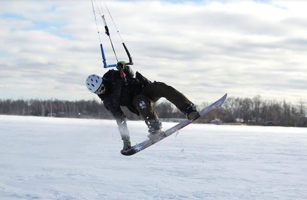 Winter extends the action for Minnesota's high-flying kitesurfers