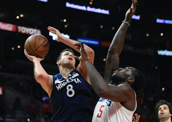 The Timberwolves move on without injured star Jimmy Butler by inserting Nemanja Bjelica (8) into the starting lineup at small forward and sliding Andr