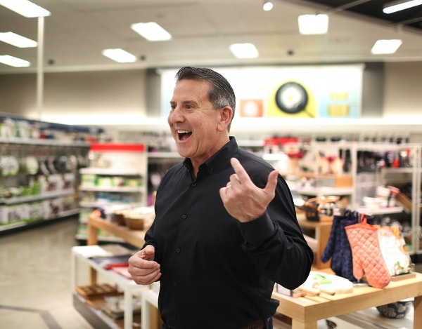 """""""We now have more of the proof points in place and we can accelerate,"""" Target CEO Brian Cornell said of the retailer's strategy during a tour of"""