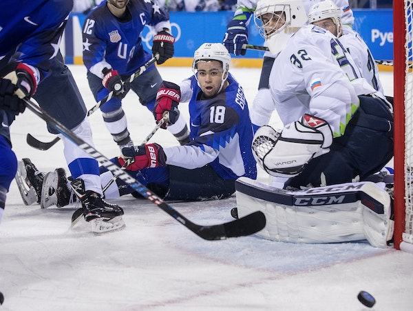 Boston University forward Jordan Greenway, a 2015 second-round draft pick of the Minnesota Wild, has been in the middle of the action for Team USA. He