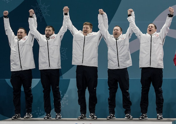 Team USA beats Sweden 10-7 at Gangneung Curling Centre on Saturday to win the gold medal.
