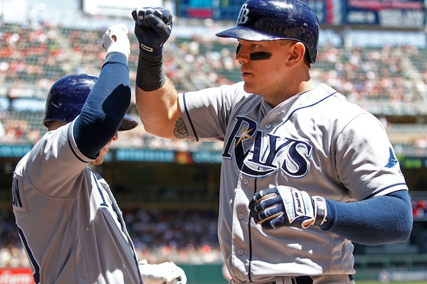 Sunday, the Twins agreed to terms with first baseman/designated hitter Logan Morrison, who hit 38 home runs last year for the Rays.
