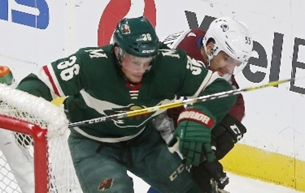 The Wild's Nick Seeler, of Eden Prairie, got a taste of the NHL when he suited up for a preseason game against Colorado.