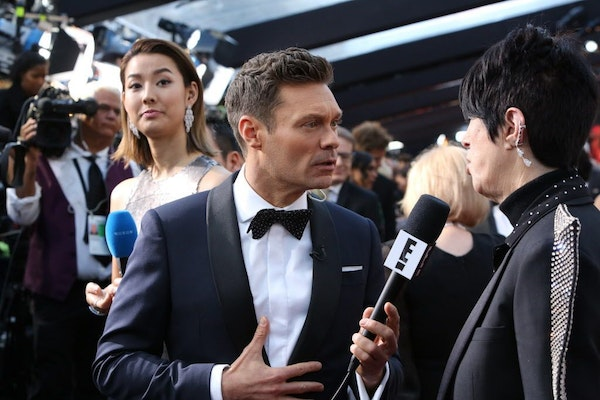 Ryan Seacrest on the red carpet before the 90th Academy Awards at the Dolby Theater in Los Angeles, March 4, 2018.