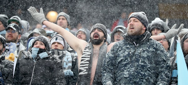 Hardy Minnesota United fans turned out in a snowstorm during last season's home opener at TCF Bank Stadium. Will this year's opener on March 17 pr