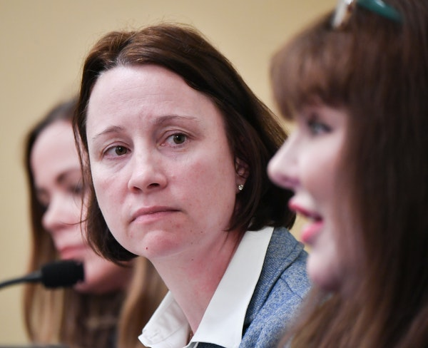New MNIT Commissioner Johanna Clyborne explained the case for additional funding from the legislature to keep MNLARS afloat. On the left is Dana Baile