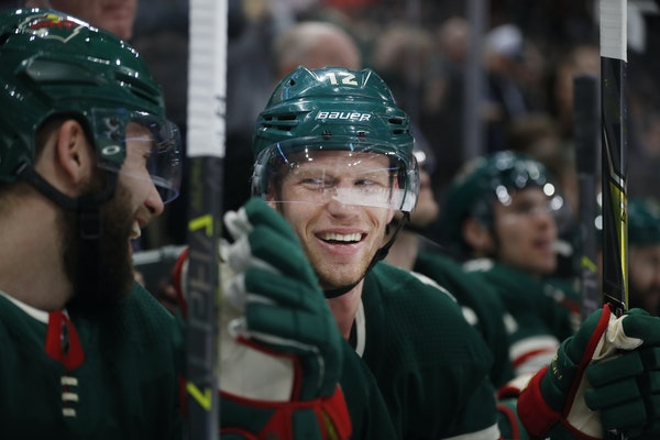 Eric Staal's added three more to his impressive goal total — 33 now — Tuesday night against St. Louis. (Star Tribune photo by Richard Tsong-Taat