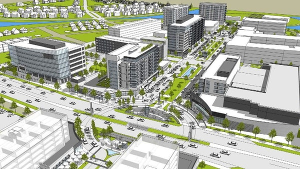Alatus released this rendering of what the Rice Creek Commons business area may look like as it begins to redevelop the former Twin Cities Army Ammuni