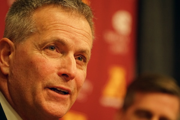 Don Lucia announced his retirement as Gophers men's hockey coach on Tuesday.