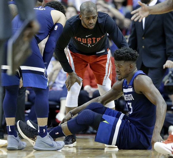 While Jimmy Butler recovers from a knee injury suffered Friday night against Houston, the Wolves will have to resume their playoff pursuit in a crowde