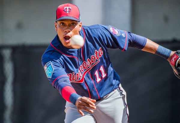 Twins infielder Jorge Polanco ran drills during a spring training workout in Fort Myers.