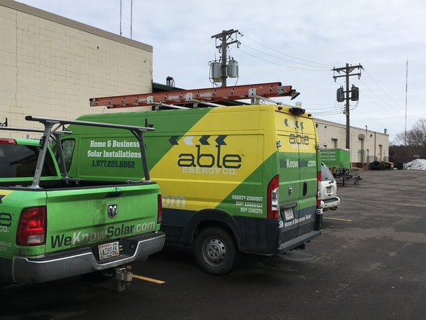Able Energy recently moved to St. Paul after their landlord in Oakdale kicked the company out for not paying rent for three months. The company's truc