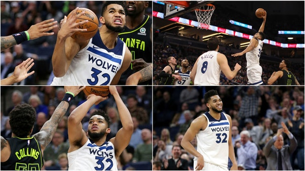 Karl-Anthony Towns said he didn't shoot particularly well while scoring a team-record 56 points on Wednesday.