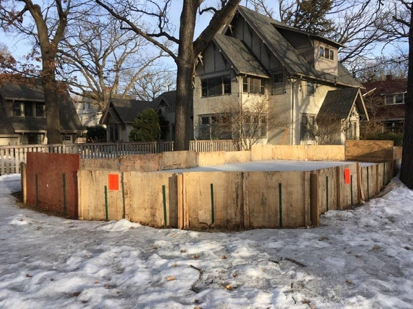 Philip Malkerson is fighting Minneapolis City Hall in an effort to keep a hockey rink he built for his children.