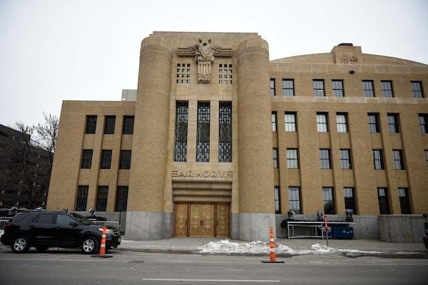 The Armory's Portland Avenue entrance shows off its historic art-deco flourishes.