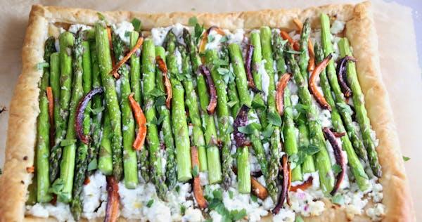 Asparagus and Carrot Tart.