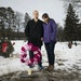 Jon Markle and his wife, Mandy, stood at their daughter Tabitha's grave in Mendota Heights.