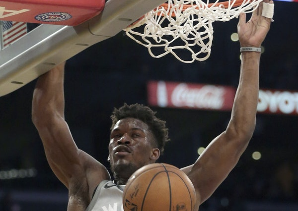 Jimmy Butler made his impact felt right away in his first game back from knee surgery, scoring 18 points Friday.