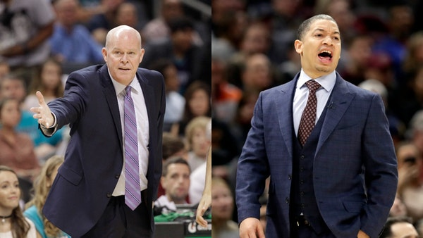 Hornets coach Steve Clifford, left, and Cleveland coach Tyronn Lue have had to step away from their teams during this season for medical reasons.