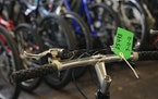 Lost or stolen bikes are warehoused in Minneapolis, and many are sold at regular police auctions.