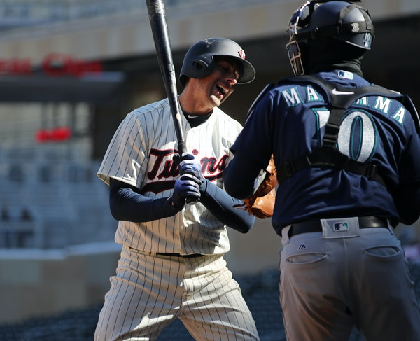 Twins catcher Jason Castro struck out with bases loaded in the seventh inning.