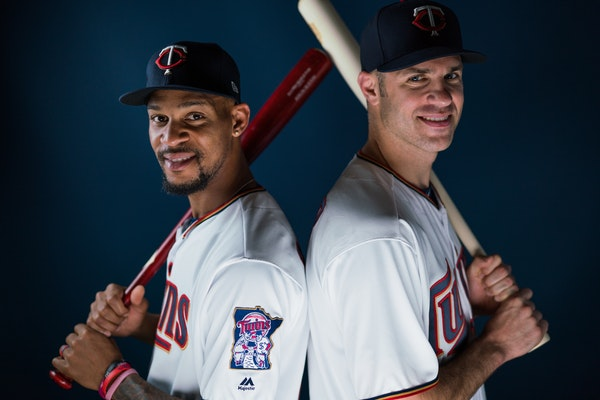 Twins outfielder Byron Buxton, left, will be entering his first season of arbitration. First baseman Joe Mauer will be a free agent after this season.