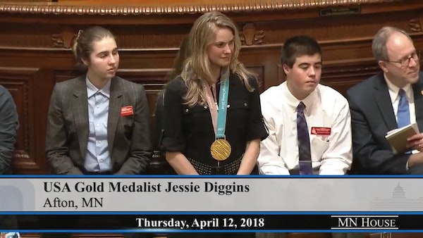 Olympic gold medalist Jessie Diggins recognized by House