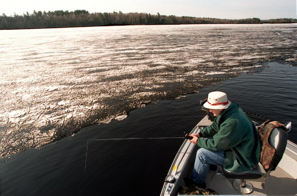 Channels and shoreline were the choices for anglers on White Iron Lake near Ely on the fishing opener in 1996.