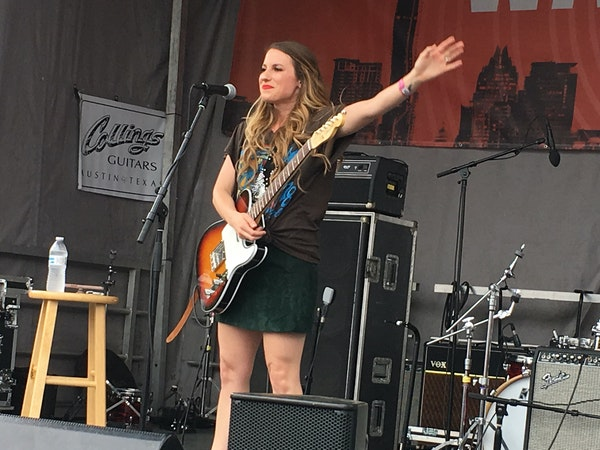 """Caitlyn Smith played outside Waterloo Records during South by Southwest in Austin, Texas, last month, tourting her breakout album """"Starfire."""""""