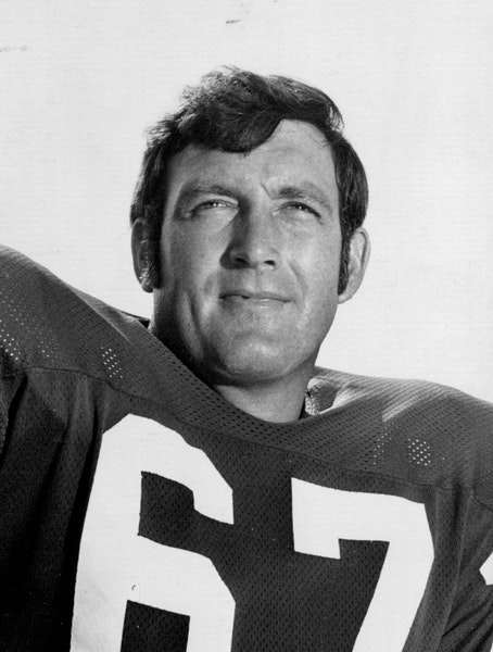 Grady Alderman, in 1972 photo, played on the Vikings' offensive line from 1961-74.,