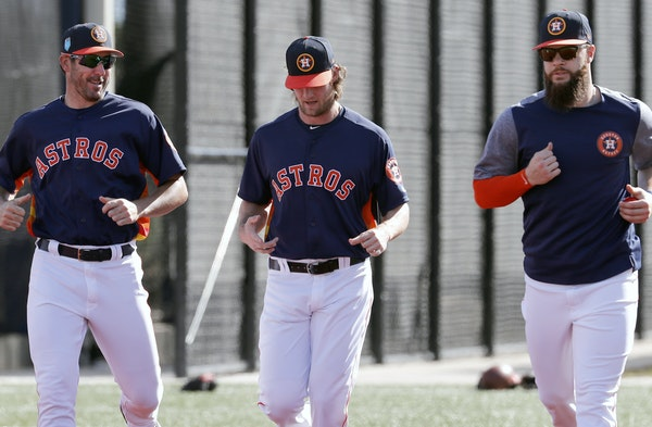 The strong Houston Astros, with pitchers Justin Verlander, left, Gerrit Cole, center, and Dallas Keuchel only got stronger.