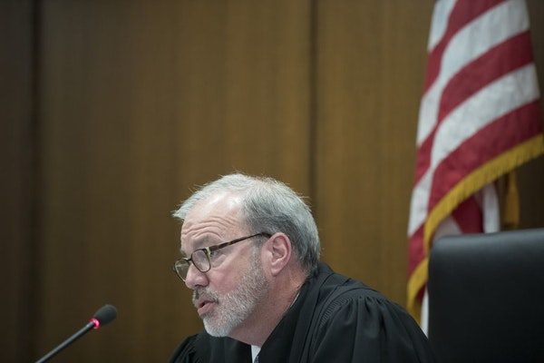In court: Hennepin County District Judge Paul Scoggin presided over Beverly Burrell's sentencing.