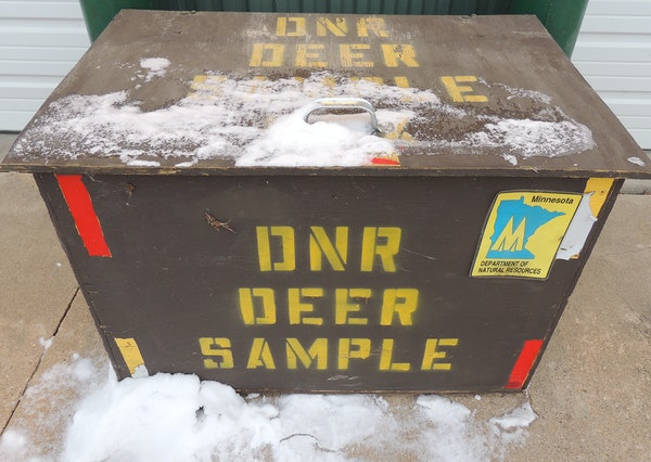 Drop boxes like this one have become a fixture in recent years in southeastern Minnesota with the rise of CWD.