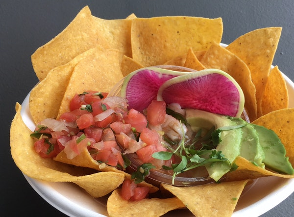 Bat & Barrel, the new restaurant at Target Field, has everything from ceviche at its walk-up window, above, to steak and poke at its full service dini