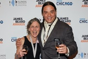 """Beth Dooley and Sean Sherman celebrated their James Beard Award for their book """"The Sioux Chef's Indigenous Kitchen."""" (University of Minnesota P"""