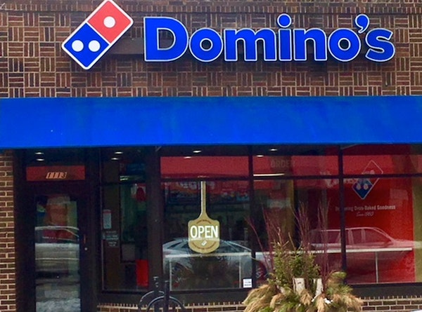 A Domino's driver from this store in the 1100 block of Hennepin Avenue was shot last week.