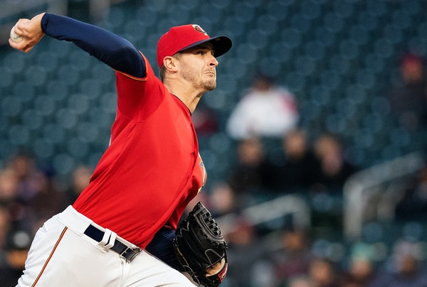 Twins starter Jake Odorizzi threw 65 pitches in three innings before settling down.