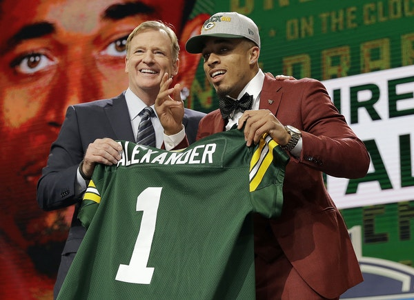 The Packers got Louisville's Jaire Alexander and a lot of pick value in Thursday night's first round.