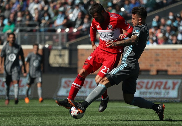 """Loons captain Francisco Calvo, right, expects his team to start winning with five of the next six matches at home. """"The calm is going to come back,�"""
