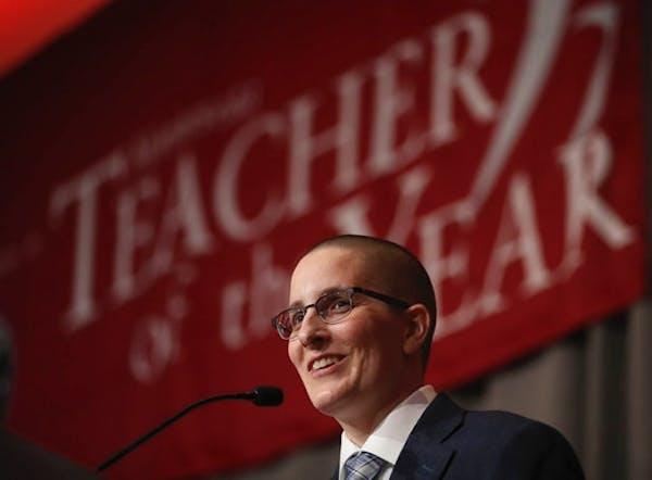 Kelly D.Holstine, an English teacher at Tokata Learning Center, an alternative high school in Shakopee, was named the Minnesota's 2018 Teacher of the