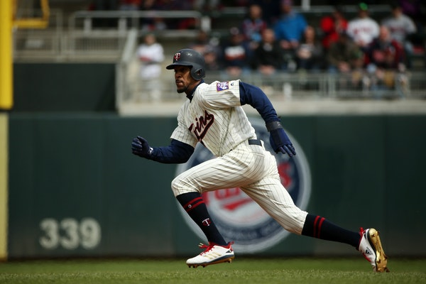 Byron Buxton at Target Field in April.