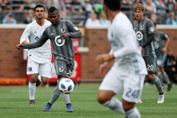 The playmaking of midfielder Darwin Quintero (25) has improved the Minnesota United offense.