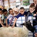 Third graders from Clara Barton Open School in Minneapolis patted a recently-sheared sheep as they visited the CHS Miracle of Birth Center Tuesday.