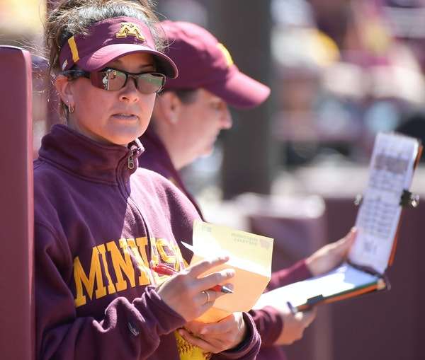 """""""It was a complete team effort, not just today but the entire weekend,"""" first-year coach Jamie Trachsel said after Minnesota won the Big Ten softb"""