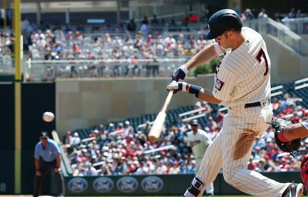Twins first baseman Joe Mauer