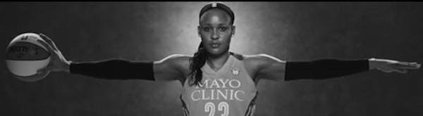 """The Jordan Brand, Minneapolis in discussion for permanent Maya Moore """"Wings'' billboard"""