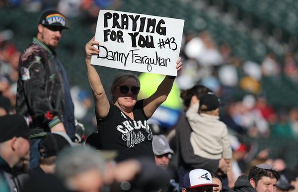 White Sox relief pitcher Danny Farquhar remains in stable condition in intensive care after suffering a brain aneurysm on April 20 and collapsing in t