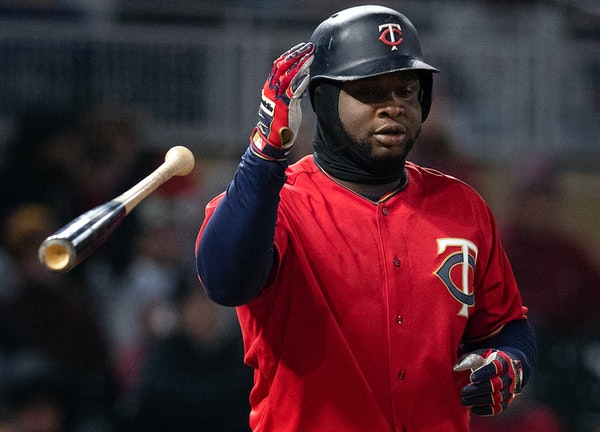 Miguel Sano tossed his bat after striking out in April.