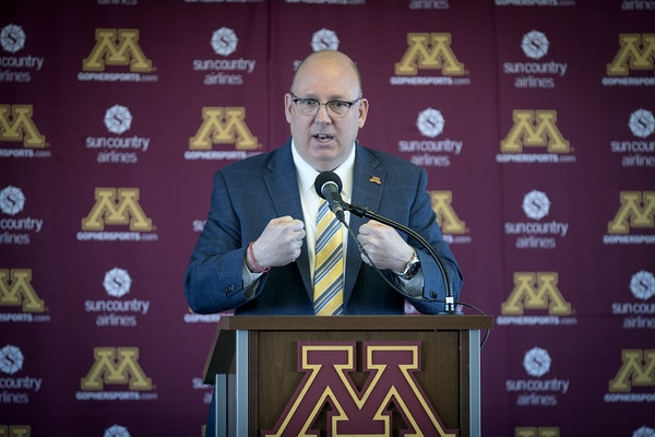 """Bob Motzko is making changes at the University of Minnesota, but he's trying to do so with a thoughtful approach. """"We're not going to come here"""