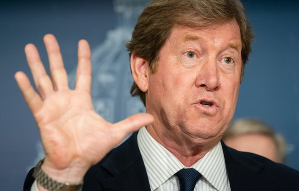 At a news conference Wednesday at the Minnesota State Capitol, U.S. Rep. Jason Lewis defended his amendment to rein in the Met Council.